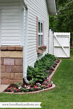Love Of Family & Home: Side Yard Makeover: Creating Curb Appeal