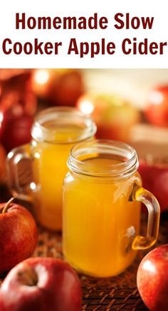 This Homemade Apple Cider recipe is a tried-and-true slow cooker treat you can make in just 3 simple steps. It's a hot and kid-friendly drink that's perfect for cozy winter nights by the fire or as an (Apple Recipes Slow Cooker) Crock Pot Recipes, Apple Recipes, Fall Recipes, Slow Cooker Recipes, Holiday Recipes, Cooking Recipes, Homemade Apple Juice Recipes, Freezer Recipes, Holiday Drinks