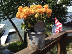 Entry from Lori Magelky: A New Lease on Life for an Old Minnow Bucket. Enter to win exclusive Artist Series cushion covers from Bemz:  https://www.facebook.com/pages/Bemz/47144261826?sk=app_95936962634