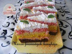 Szivárvány szelet   Forrás: http://webcukraszda.hu/szivarvany-szelet
