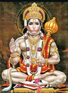Hanuman (Anjaneya, Bajrangbali) - One of the Central Chararcters in Hindu Epic - Ramayana Hanuman Jayanthi, Hanuman Tattoo, Hanuman Aarti, Shri Ganesh, Ganesha Art, Happy Hanuman Jayanti, Hanuman Ji Wallpapers, Sri Rama, Religion