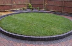 raised circular lawn kirkby abel landscapes small garden designgarden