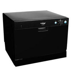 Koldfront 6 Place Countertop Dishwasher – Black