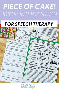 Idioms are an important part of reading.lThe big question is, should we even be working on idioms in speech therapy? Yes! The ability to understand idioms is closely linked to academics and reading comprehension. Don't miss these tips for working on idiom intervention with your speech therapy students.