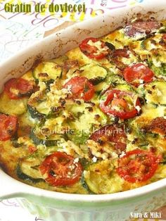 » Gratin de dovleceiCulorile din Farfurie Diet Recipes, Vegetarian Recipes, Cooking Recipes, Healthy Recipes, Bread Recipes, Baking Bad, Eggplant Recipes, Lunches And Dinners, Side Dish Recipes