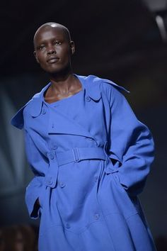 Sudanese model Grace Bol presents a creation by Felipe Oliveira Baptista during the 2014 Spring/Summer ready-to-wear collection fashion show, on September 25, 2013 in Paris. AFP PHOTO / MIGUEL MEDINA