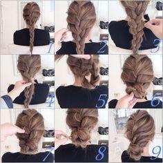 Twisted Braid Hair Updos shared by Fashion. Braided Hairstyles Updo, Diy Hairstyles, Pretty Hairstyles, Love Hair, Gorgeous Hair, Head Band, Hair Arrange, Corte Y Color, Hair Setting