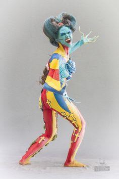 WBF 2014 | SFX Bodypainting Qualification 'Pop Art'  Photography: Atelier 'et Lux' (Eve Lumière), Artist ID218: Daniela Casuneanu - Romania, Assistant: Edith Wolf, Model: Adela Mustaţă