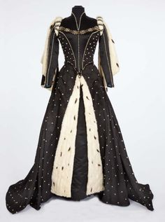 "Lana Turner ""Diane de Poitiers – Countess de Breze"" Black Satin Period Gown"