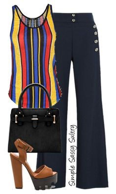 """""""Striped"""" by simplesassysultry on Polyvore featuring Chloé and Balmain"""