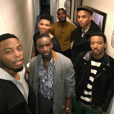 Woody McClain, Elijah Kelley, Bryshere Gray, Luke James, Keith Powers and Algee Smith ❤