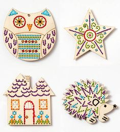 Craft Kits for Kids – Wood Stitchables Lacing Toys – Handmade Charlotte Craft Projects | Small for Big