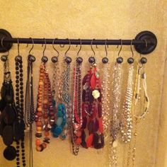 I made this today. Cost about $20. 18 inch towel bar Walmart. Shower hooks from Target.