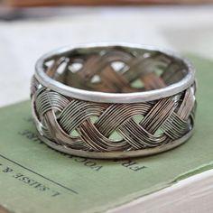 braided pewter bracelet