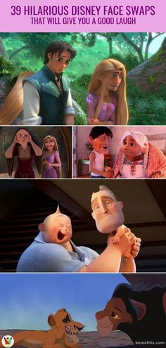 39 Utterly Hilarious Disney Face Swaps That Will Give You a Good Laugh 39 Extrem witzige Disney-Face-Swaps, die Sie zum Lachen bringen Funny Disney Memes, Humour Disney, Funny Disney Jokes, Disney Facts, Disney Quotes, Stupid Funny Memes, Funny Relatable Memes, Disney Pixar, Hilarious Quotes