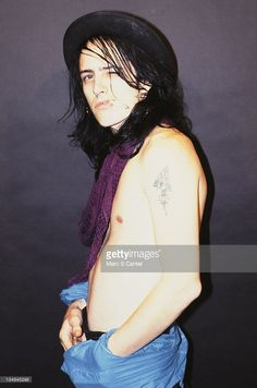 Guitarist Izzy Stradlin of the rock group 'Guns n' Roses' poses for a portrait in October 1985 in Los Angeles, California.