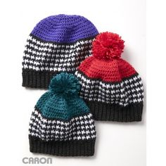 Houndstooth Bright Hat  To fit child 6-10 yrs (Woman-Man).