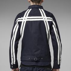 G-Star RAW | Heren | Jassen | A-crotch Studio Slim 3d Jacket , Raw Denim
