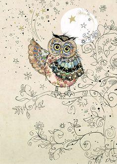 'Magical Owl' by Bug Art Art Carte, Whimsical Owl, Owl Illustration, Bug Art, Paper Owls, Owl Always Love You, Owl Bird, Cute Owl, Bunt