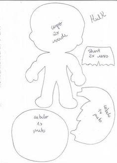 Reduce gap of arms and legs; Quiet Book Templates, Felt Templates, Felt Doll Patterns, Stuffed Toys Patterns, Felt Crafts Diy, Felt Christmas Ornaments, Baby Clip Art, Sewing Toys, Hulk