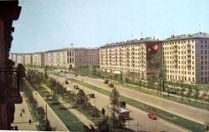 """More """"OMG Communist Moscow is the BEST PLACE EVER! Look at all our sunshine, fresh air, and building that will in no way become ghettos within a decade of our oppressive regime! Back In The Ussr, Socialist Realism, Russian Art, Soviet Union, Moscow, Vintage Photos, The Good Place, City Photo, Dolores Park"""