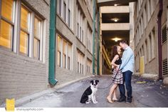 ENGAGEMENT SESSION. Engagement session in Kansas City. Kansas City Photographer. Engagement. Couples together. Couples Pose. Couple with dog. www.Sharayaphoto.com