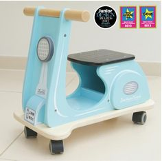 Indigo Jamm- Wooden Toys- Jamm Scoots Kids Ride On Scooter-Aqua