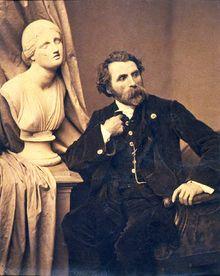 1/9- Happy Birthday, Antoine Samuel Adam-Salomon, French sculptor, photographer, 1818-1881. Self portrait,1865.