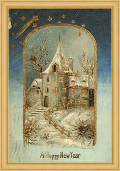 Victorian Christmas et Bonne Année . Vintage Christmas Images, Old Christmas, Old Fashioned Christmas, Christmas Scenes, Victorian Christmas, Christmas Pictures, Xmas, New Year Greeting Cards, New Year Greetings