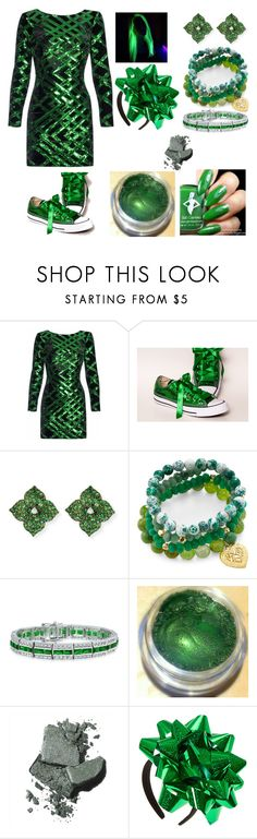 """""""Green Present"""" by melody-marvell on Polyvore featuring Nissa Jewelry, Piranesi, Good Charma, Bling Jewelry and Bobbi Brown Cosmetics"""
