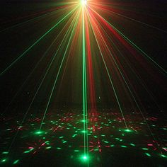Amazon.com:UPKJ Mini Laser Dj Lights,3 Lens 12 Gobos RGB Laser Projector Light With Remote Control,Ideal for for Parties Clubs and Bars( RGB Laser + 3W Blue LED 12 Gobos): Musical Instruments