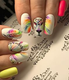 """If you're unfamiliar with nail trends and you hear the words """"coffin nails,"""" what comes to mind? It's not nails with coffins drawn on them. It's long nails with a square tip, and the look has. Manicure Nail Designs, Nail Manicure, Nail Art Designs, Disney Acrylic Nails, Best Acrylic Nails, Paw Print Nails, Jolie Nail Art, Feather Nails, Glow Nails"""