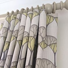 Cartridge pleats in a Villa Nova fabric