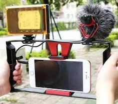 Smartphone Video Rig + 96 LED Light + Boya Microphone,Ulanzi iPhone Filmmaking Recording Vlogging Rig Case,Phone Movies Mount Stabilizer for iPhone Xs Xs Max X 7 Plus Ghost Hunting Equipment Microphone Studio, Panasonic Camera, Nikon Dslr Camera, Vlogging Equipment, Mode Pro, Ghost Hunting Equipment, Smartphone, Gadgets, Everything
