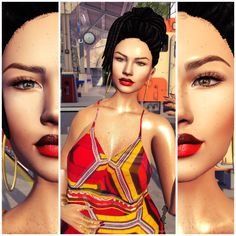 Fashion in SL by Luah Benelli: *iS*, Azdesign e rezology hair