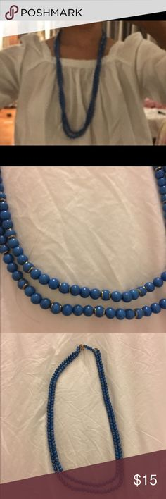 Banana republic beaded necklaces. Two strands of banana republic beaded necklace in a pretty blue.  Can be worn as a choker too. Banana Republic Jewelry Necklaces