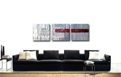 Abstract Modern Large ORIGINAL Contemporary Fine Art by OritArt, $209.00