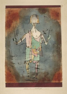 "kafkasapartment:  ""Diavolo Player, 1923. Paul Klee. Opaque watercolor and watercolor over oil transfer on paper  """