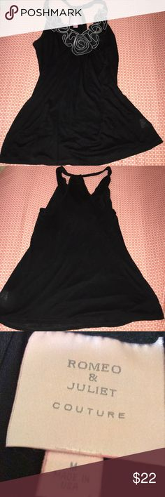 Romeo & Juliet Couture Black Formal Tank Medium Tank is in great condition! Comes from a smoke free home Romeo & Juliet Couture Tops Tank Tops