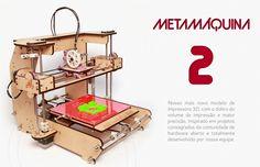 A photo of the Metamaquina 2 desktop 3d printer