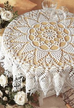 Kira crochet: Crocheted motif no. Crochet Tablecloth Pattern, Crochet Bedspread, Crochet Doily Patterns, Crochet Diagram, Thread Crochet, Filet Crochet, Crochet Doilies, Crochet Lace, Doily Rug