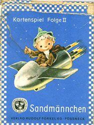 Kartenspiel Folge II - Sandmännchen, Entwürfe: Kurt Brandes, 25 Karten, Originalschachtel mit Spielregel, Verlag Rudolf Forkel KG Pößneck - A 7/64 . V 77