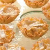 Mini Brie & Apple Quiches - I do have some phyllo shells to use up!