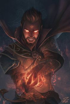 Fire Mage - Fantasy art by Simon Pape Fantasy Male, High Fantasy, Fantasy Rpg, Medieval Fantasy, Fantasy Wizard, Dungeons And Dragons Characters, Dnd Characters, Fantasy Characters, Fantasy Character Design