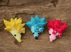 Celtic Tide Creations Hedgehog Ribbon Sculpture Hair Clip  -- Made by a Local Maryland Mama -- So adorable!