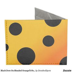 Black Dots On Blended OrangeToYellow Tyvek® Billfold Wallet