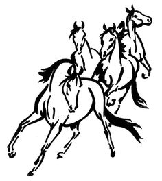 FOUR WILD HORSES STICKER DECAL BRAND NEW FOR CAR,FLOAT, TACK BOX, 4WD, UTE #H179