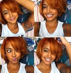 Short Sexy Orange Hair Styles