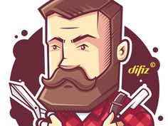 Made this character for a local barber shop, special for www.difiz.com Thanks guys for this great experience, was great working with you again ;-)