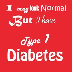#Type 1 Diabetes #Diabetes #Diabetic